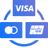 Visa, Master Card and Union Pay